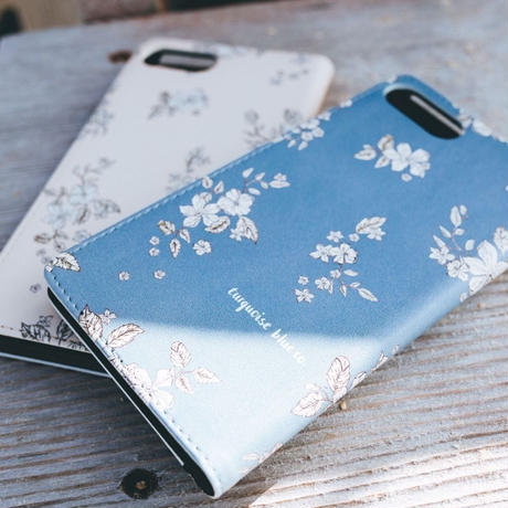 "iPhone Diary Cover  ""Floral"" / 2 Colors"