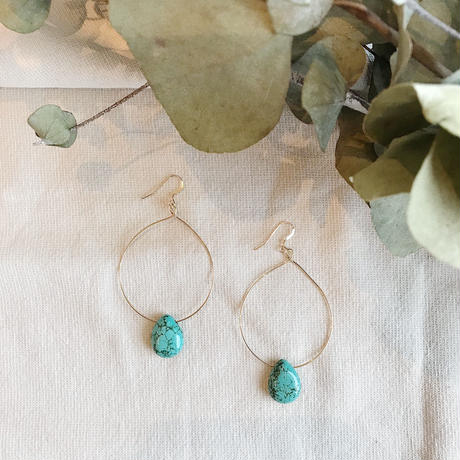 Drop Turquoise  Earrings