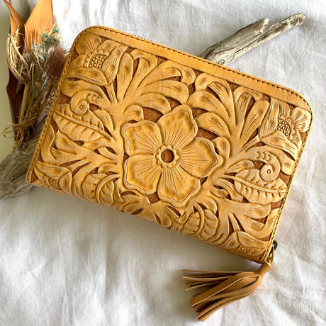 Flower Leather Wallet