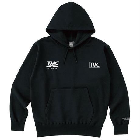 TURTLE MAN's CLUB 【TMC VIBES】HOODIE  [MONO BLACK]