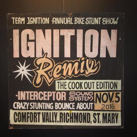 ジャマイカイベントサイン(イベント告知ボード)IGNITION REMIX@ST MARY