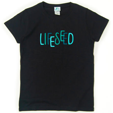 【LIFE SEED】 LOGO T-SHIRTS(BLACK)  ※LADIES