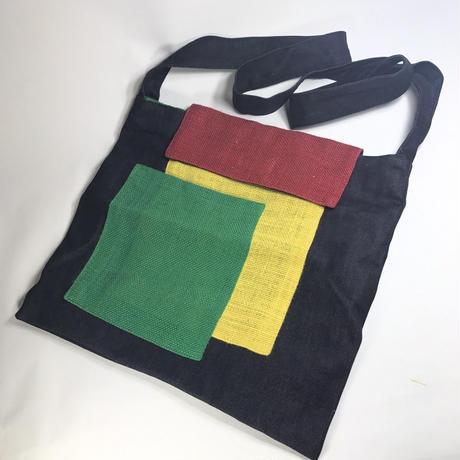 ジャマイカ直輸入  SANAA ハンドメイド バッグ