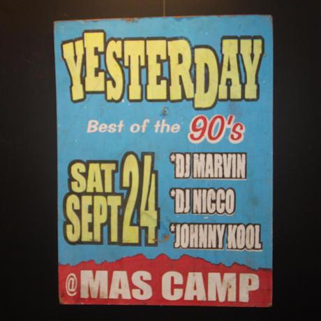 ジャマイカイベントサイン(イベント告知ボード)90sイベント YESTERDAY