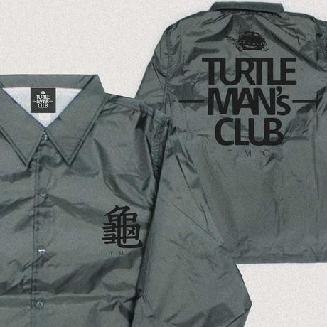 数量限定ONE SIZEのみ  TURTLE MAN's CLUB  COACH JACKET(コーチジャケット)   【CHARCOAL/BLACK】
