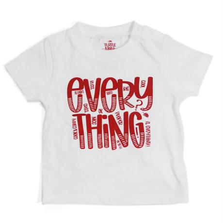 "TURTLE MAN's CLUB  ""EVERYTHING"" T-SHIRTS [WHITE]KIDS  90.110.130"