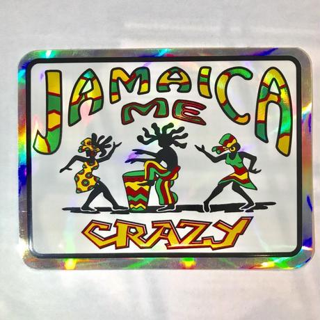 ジャマイカ直輸入  JAMAICA ME CRAZYステッカー キラ ※数量限定