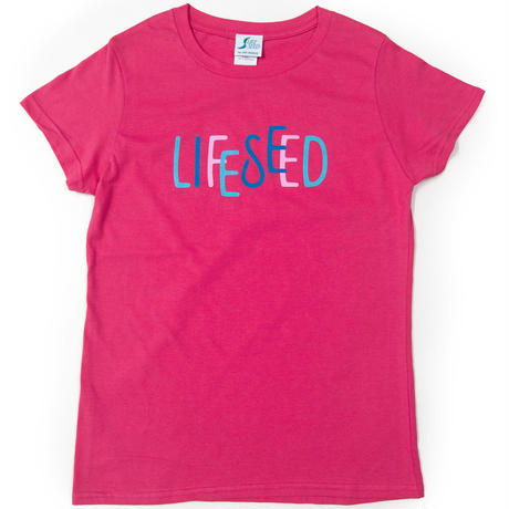 【LIFE SEED】 LOGO T-SHIRTS(BOUGAINVILLEA)  ※LADIES