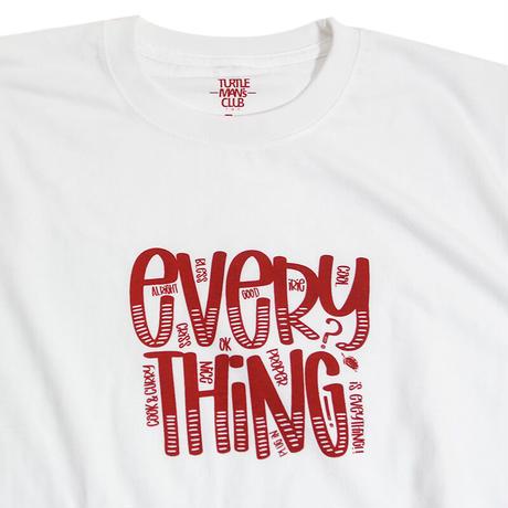 "TURTLE MAN's CLUB  ""EVERYTHING"" T-SHIRTS [WHITE]XS〜XXL"