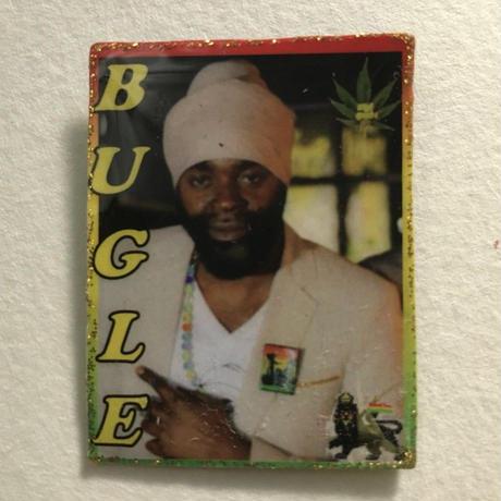 ジャマイカ直輸入  BUGLE ハンドメイドバッチ