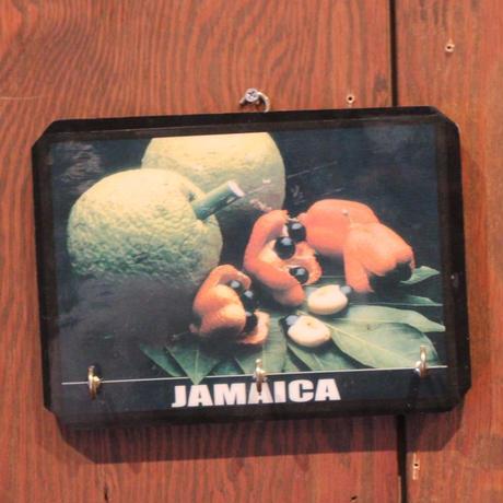ジャマイカ直輸入 アキ、ブレッドフルーツ 鍵掛け 壁掛け デッドストック