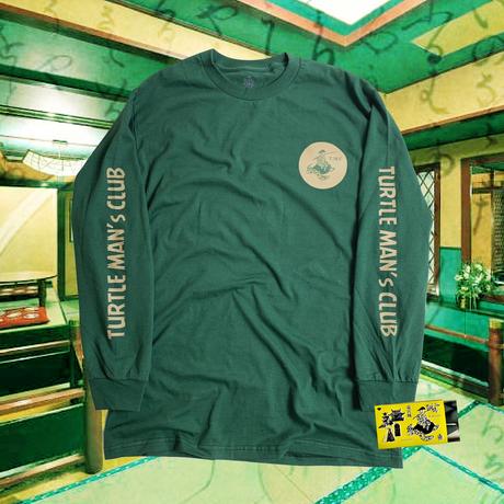 "TURTLE MAN's CLUB ""浦島 LONG SLEEVE T-SHIRTS""  畳GREEN マッチ箱入りお香付き"