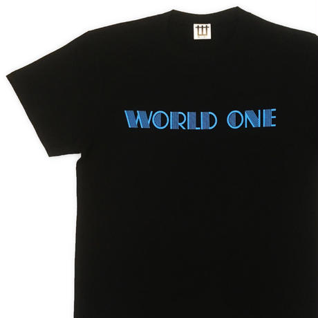 WORLD ONE【NEON LOGO TEE】(BLACK)