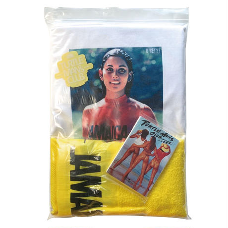 【TURTLE MAN's CLUB 】『U WET ?? JAMAICA  SET』  (Tシャツ、タオル、ポケットティッシュ、防水ステッカー付)