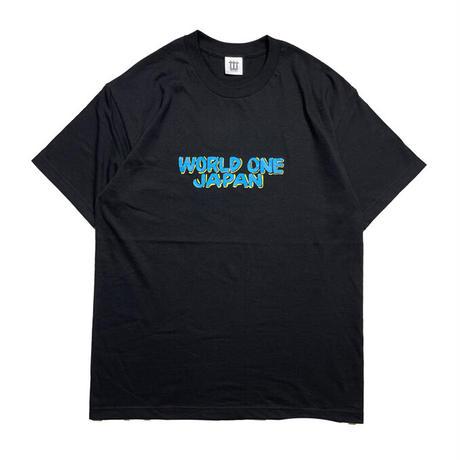 WORLD ONE JAPAN BY NURSE SIGNS TEE (BLK×S-BLU×YEL)