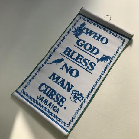 再入荷!ジャマイカ WHO JAH BLESS(パトワ語)タペストリー  (壁掛け)