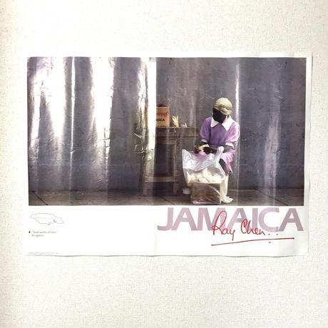 JAMAICA 有名写真家RAY CHEN ビンテージ ポスター【SIDE WALK DENDOR】