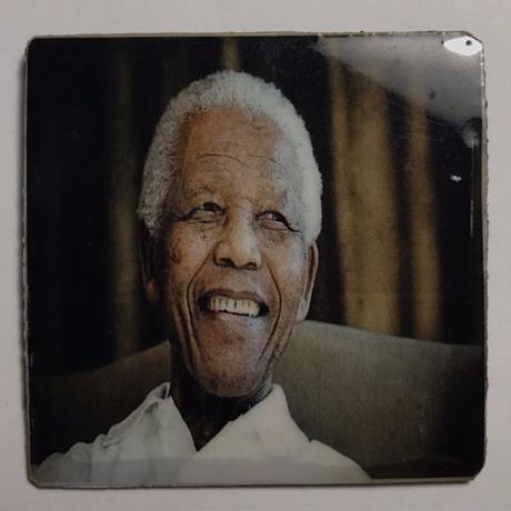 ジャマイカ直輸入  NELSON MANDELA ハンドメイドバッチ