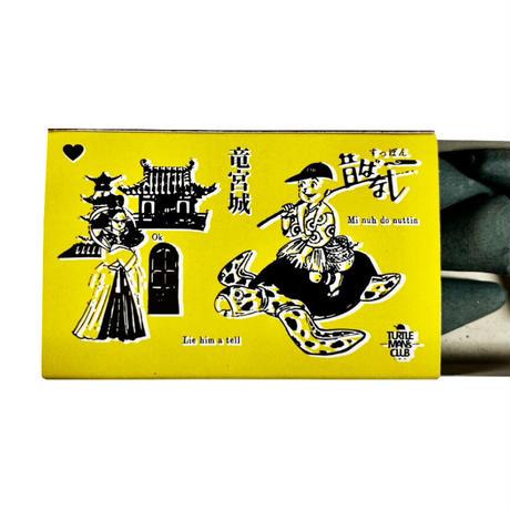 "TURTLE MAN's CLUB ""浦島 LONG SLEEVE T-SHIRTS""  満月BLACK マッチ箱入りお香付き"