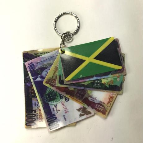 ジャマイカ直輸入 JAMAICAドルキーホルダー