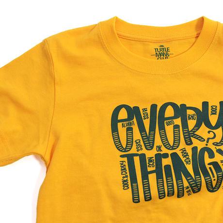 "TURTLE MAN's CLUB  ""EVERYTHING"" T-SHIRTS [YELLOW]KIDS  90.110.130"