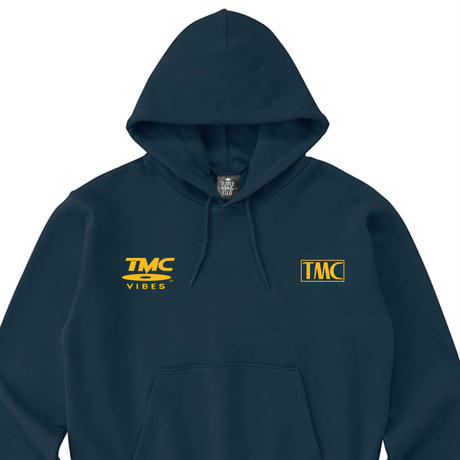 TURTLE MAN's CLUB 【TMC VIBES】HOODIE  [TSU◯YA NAVY]