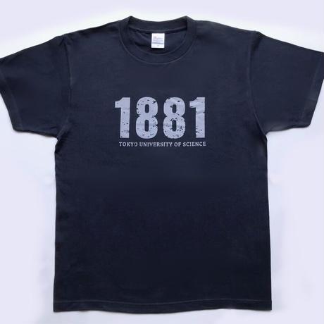 【1881デザインビンテージ加工】理科大 オリジナルTシャツ(紺)