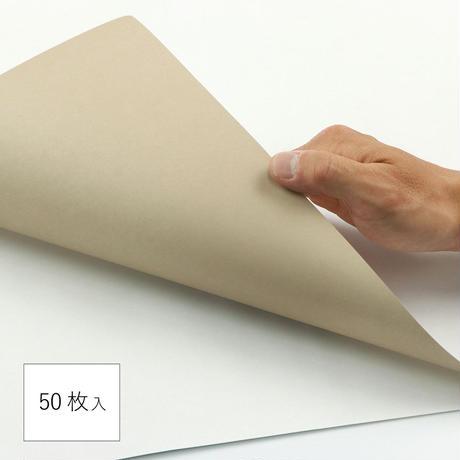 包装紙 半裁 無地 グレージュ 50枚