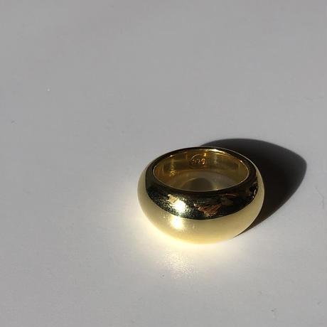 S925ボリュームピンキーリング GOLD/020310