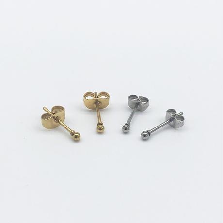 [金属テスト]スモールドットピアス/020054