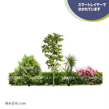 ガーデン植栽パースセット  GP004_04
