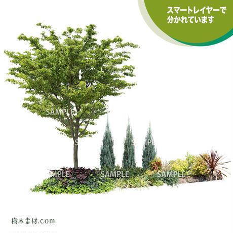ガーデン植栽パースセット  GP003_02