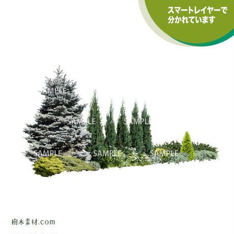 ガーデン植栽パースセット  GP003_06