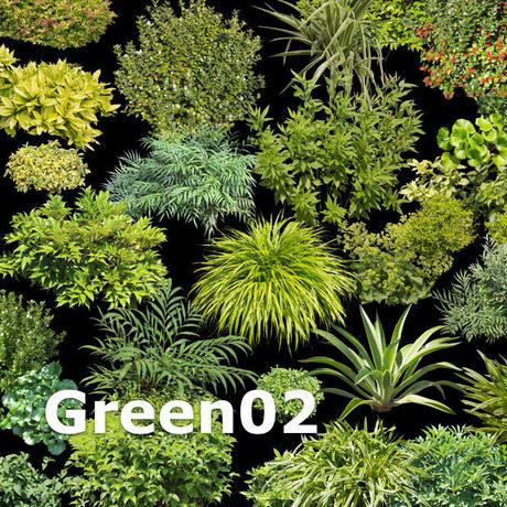 ガーデン庭木素材 グリーン系  32個セット  G30_04