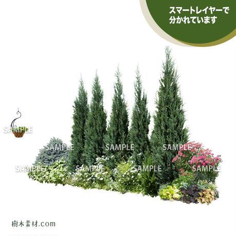 ガーデン植栽パースセット  GP001_04