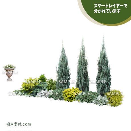 ガーデン植栽パースセット GP_001_01