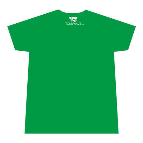 ツアー・ウェーブ オリジナル Tシャツ(グリーン)