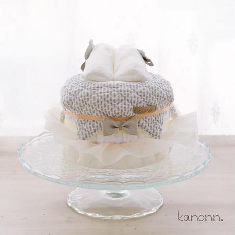 『macaron』おむつケーキ♡出産祝いギフト(カラー・おむつサイズ選べます)
