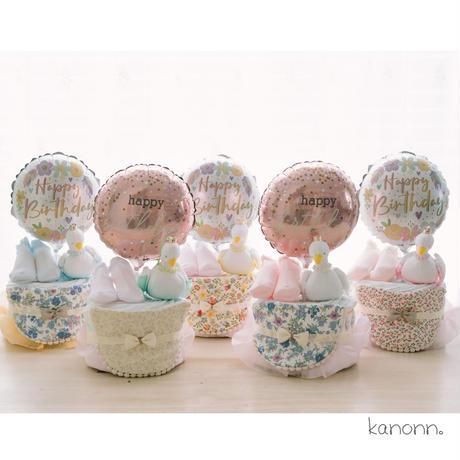 『swan』おむつケーキ♡出産祝いギフト(カラー・おむつサイズ選べます)