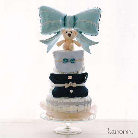 『Deluxe』おむつケーキ3段♡出産祝いギフト(カラー・おむつサイズ選べます)