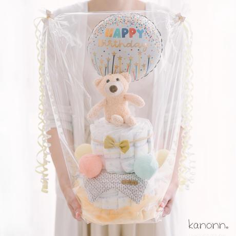 『cotton』おむつケーキ2段♡出産祝いギフト(カラー・おむつサイズ選べます)
