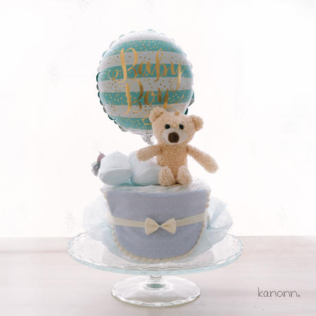 『kuma』おむつケーキ♡出産祝いギフト(カラー・おむつサイズ選べます)