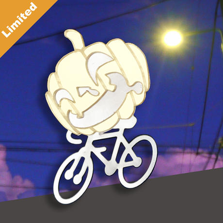 Limited !!! Reflector brooch Cycling Jack -Silver & Gold-