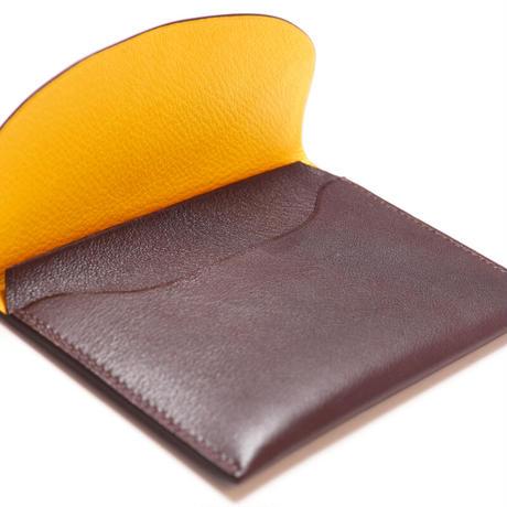 SAIC(Portafoglio  財布⑯) カーフ<こげ茶>×ゴート<レモン>
