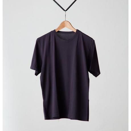 THREE AND MORE 半袖クルーネックTシャツ(ネイビー)