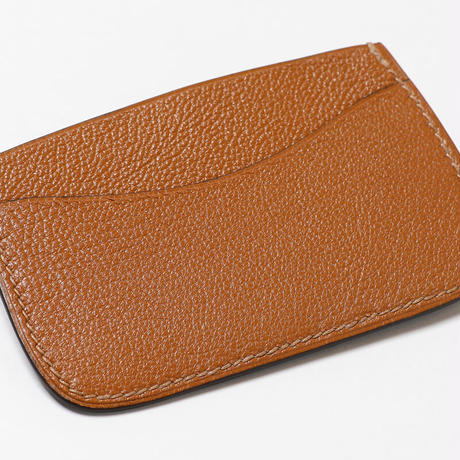 SAIC(Portabiglietto Slim カードケース⑤) アリゲーター<カーキ>×ゴート<タン>