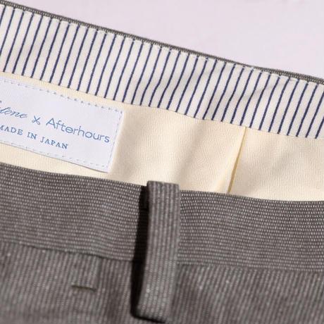 MILESTONE×AFTERHOURS  コードレーントラウザーズ(Cotton100% Gray)