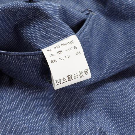 MILESTONE×AFTERHOURS  コードレーントラウザーズ(Cotton100% Blue)