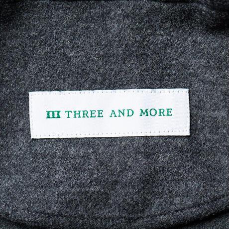 THREE AND MORE ケーシージャケット(グレイ)