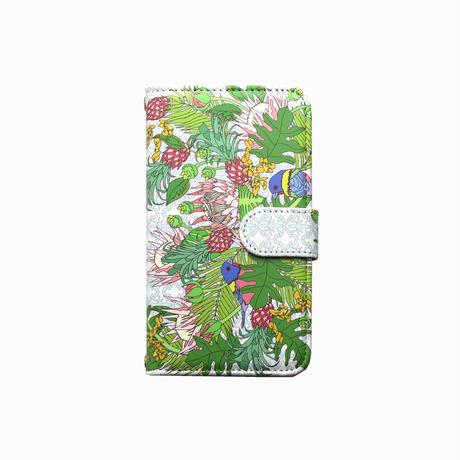Smartphone case-Pineapple-ミラー&チェーン付きタイプ